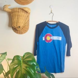 vtg funky Colorado baseball oversized tee